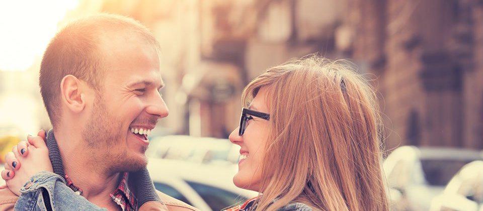 Couple enjoying romance